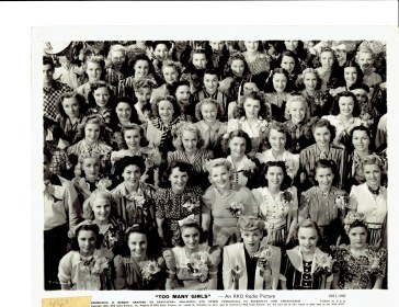 """Too Many Girls"" with Lucille Ball in center front and Genevieve Grazis in center back 1940"